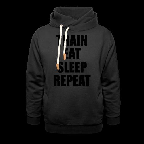Train Eat Sleep Repeat - Schalkragen Hoodie