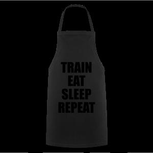 Train Eat Sleep Repeat - Kochschürze