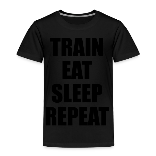 Train Eat Sleep Repeat - Kinder Premium T-Shirt