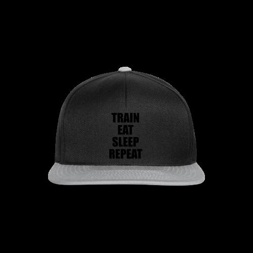 Train Eat Sleep Repeat - Snapback Cap