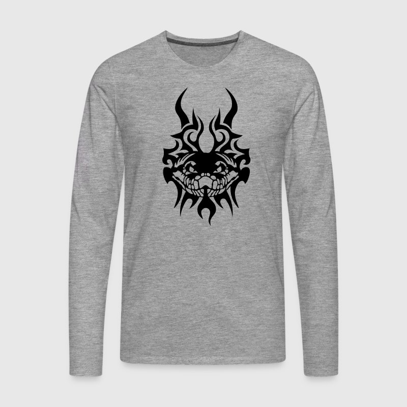 serpent tatouage tribal animal sauvage Tee shirts manches longues - T-shirt manches longues Premium Homme