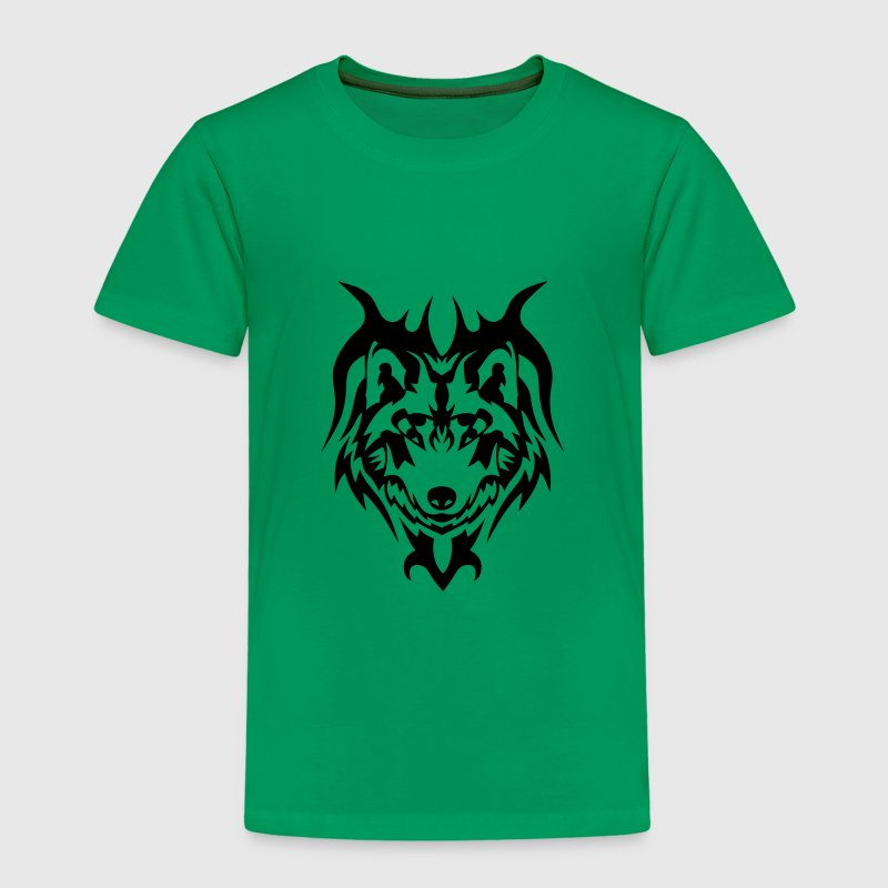 loup tatouage tribal animal sauvage Tee shirts - T-shirt Premium Enfant