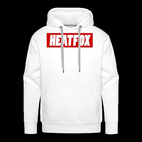 HeatFox LOGO - Felpa con cappuccio premium da uomo