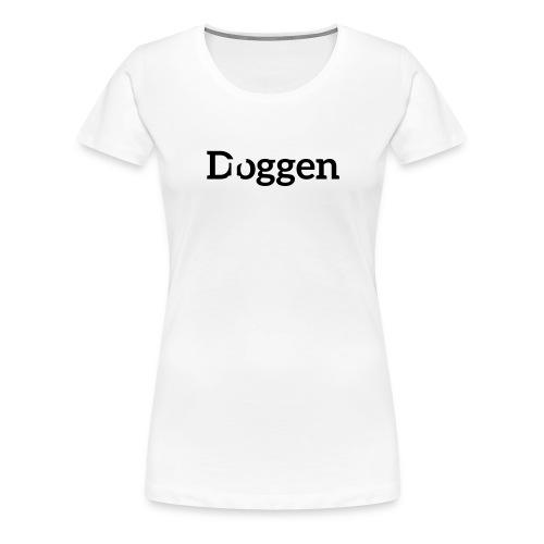 Meine D...ogge Glitzerschwarz - Frauen Premium T-Shirt