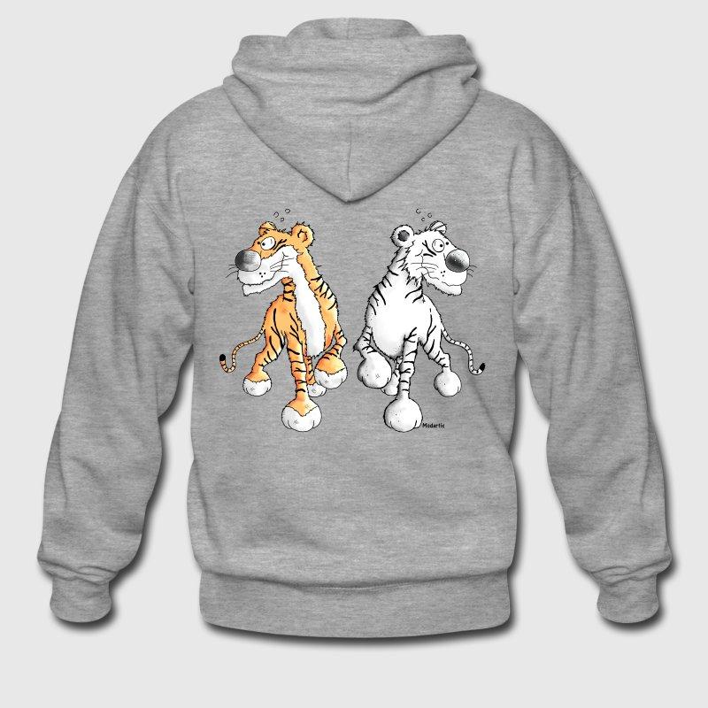 Amour de tigre - animaux sauvages - Zoo Sweat-shirts - Veste à capuche Premium Homme