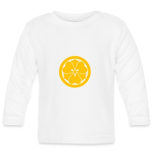 Sakai Mon Japanese samurai clan yellow - Baby Long Sleeve T-Shirt
