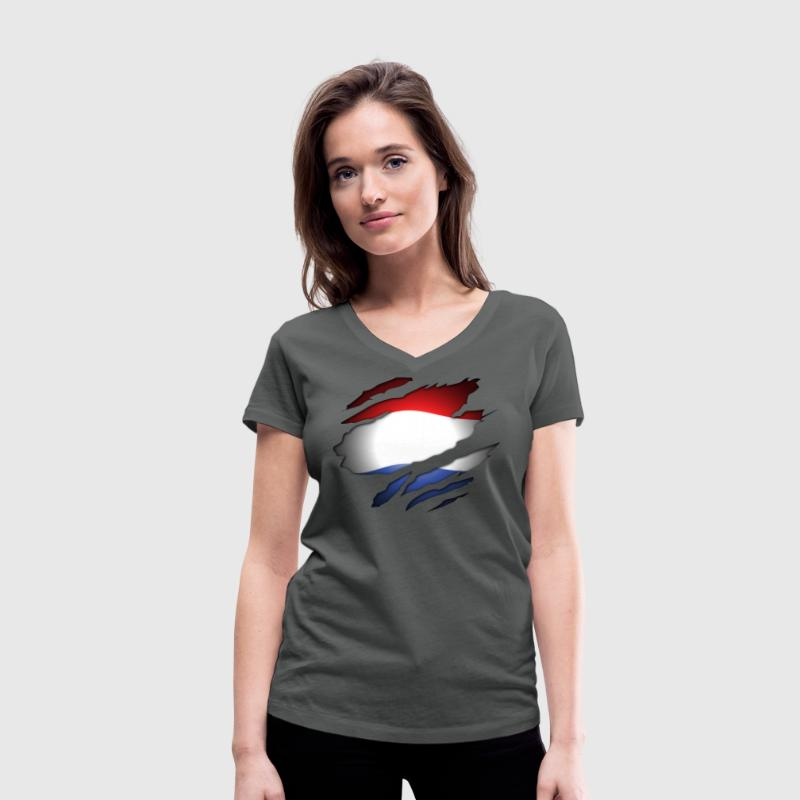 Dutch Inside T-shirts - Vrouwen T-shirt met V-hals