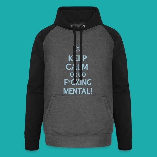 Keep Calm or Go Mental Hammers - Unisex Baseball Hoodie