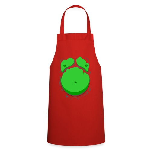 Comic Fat Belly Green, beer gut, beer belly, chest t-shirt - Cooking Apron