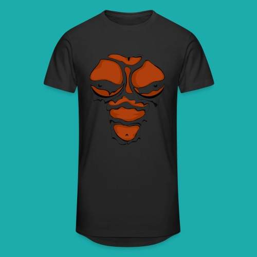 Ripped Muscles Female chest T-shirt - Men's Long Body Urban Tee