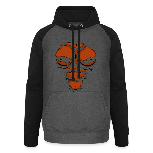 Ripped Muscles Female chest T-shirt - Unisex Baseball Hoodie