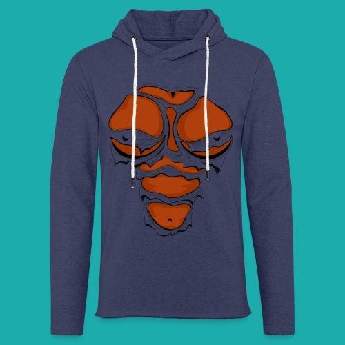 Ripped Muscles Female chest T-shirt - Light Unisex Sweatshirt Hoodie