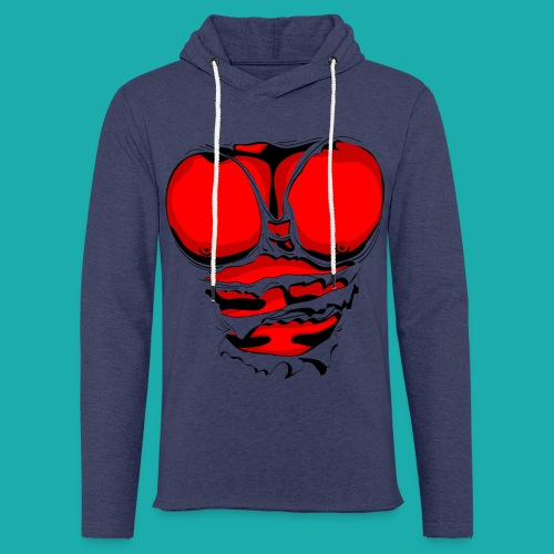 Ripped Muscles Red, six pack, chest t-shirt - Light Unisex Sweatshirt Hoodie