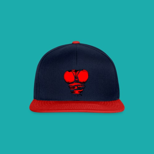 Ripped Muscles Red, six pack, chest t-shirt - Snapback Cap