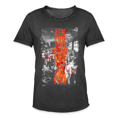 ZOMBIES: aim for the head | Std.Shirt - Männer Vintage T-Shirt