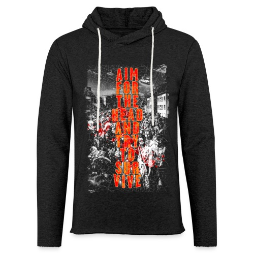 ZOMBIES: aim for the head | Std.Shirt - Leichtes Kapuzensweatshirt Unisex