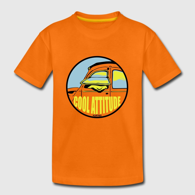 Orange Cool Attitude 2 Tee shirts - T-shirt Premium Enfant
