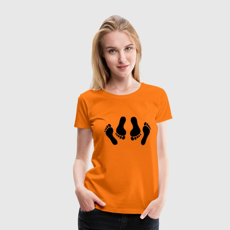 Orange feet Ladies' - Women's Premium T-Shirt