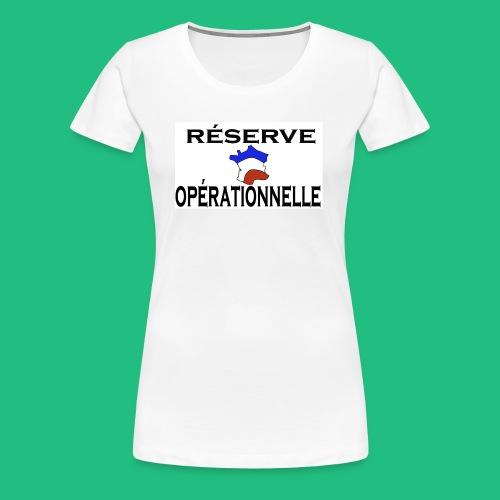 RESERVE OPERATIONNELLE - T-shirt Premium Femme