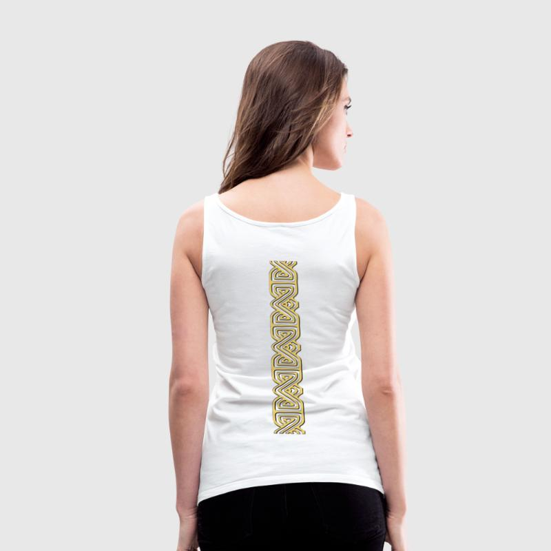 SUPERSEXY Sahovnica Croatia Pleter zlato Tattoo Ledja Rücken - Frauen Premium Tank Top