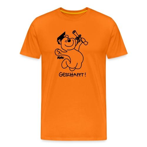 Diplombär,  geschafft, orange w - Männer Premium T-Shirt
