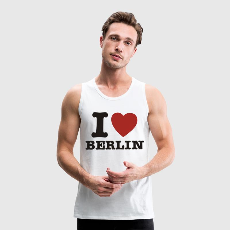 White I Love Berlin - I Heart Berlin Men's T-Shirts - Men's Premium Tank Top
