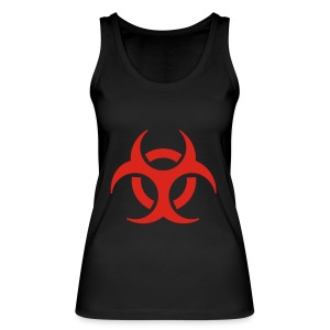 Women's Shoulder-Free Tank Top with biohazard - Women's Organic Tank Top by Stanley & Stella