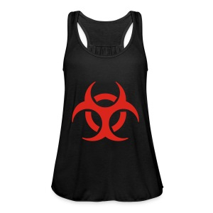 Women's Shoulder-Free Tank Top with biohazard - Women's Tank Top by Bella