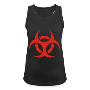Women's Shoulder-Free Tank Top with biohazard - Women's Breathable Tank Top