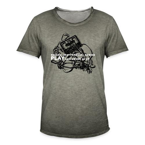 PLAY never stop   Std.shirt - Männer Vintage T-Shirt