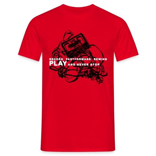 PLAY never stop   Std.shirt - Männer T-Shirt