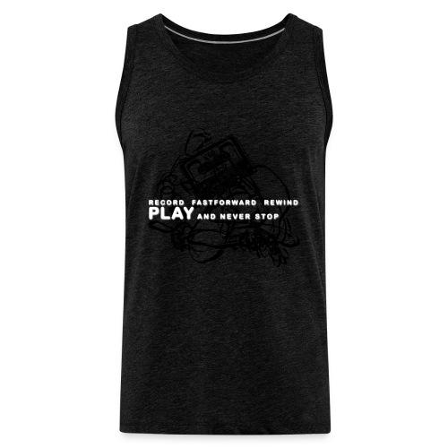 PLAY never stop   Std.shirt - Männer Premium Tank Top
