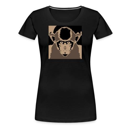 Staring Monkey - Women's Premium T-Shirt