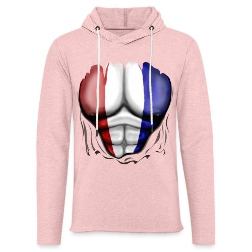 Holland Flag Ripped Muscles, six pack, chest t-shirt - Light Unisex Sweatshirt Hoodie