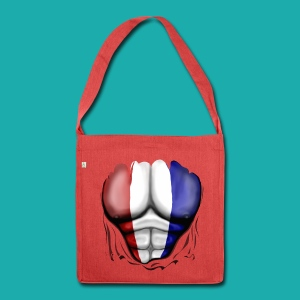 Holland Flag Ripped Muscles, six pack, chest t-shirt - Shoulder Bag made from recycled material