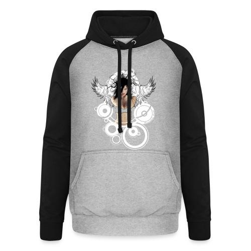 Psychedelic  AngeI - Unisex baseball hoodie