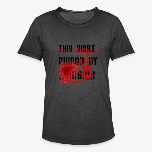 This Shirt ruined by Zombies, Dieses T-shirt wurde von Zombies ruiniert T-Shirts - Männer Vintage T-Shirt
