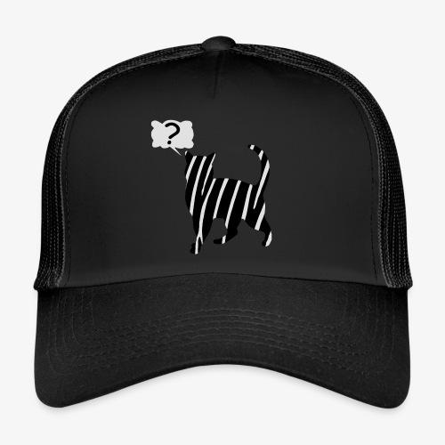 Zebra kissa myyttinen eläin, lumoa hyvin kyseenalainen T-paidat - Trucker Cap