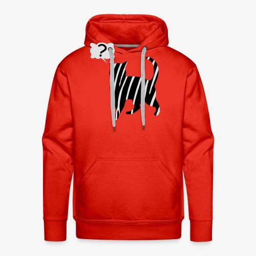 Zebra kissa myyttinen eläin, lumoa hyvin kyseenalainen T-paidat - Männer Premium Hoodie