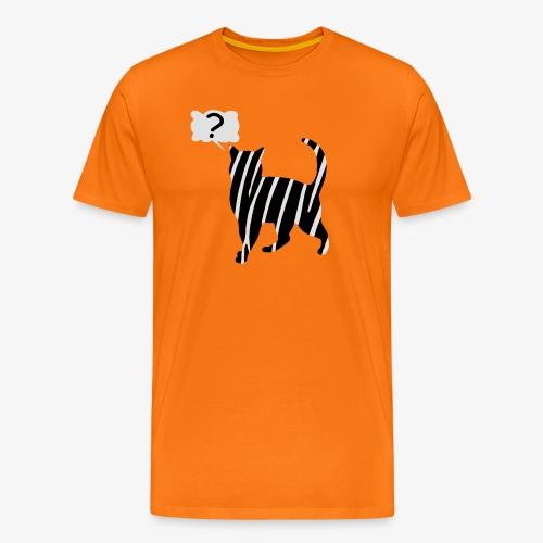 Zebra kissa myyttinen eläin, lumoa hyvin kyseenalainen T-paidat - Männer Premium T-Shirt