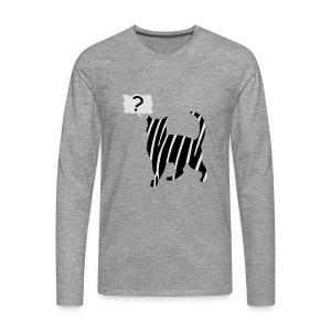 Zebra kissa myyttinen eläin, lumoa hyvin kyseenalainen T-paidat - Männer Premium Langarmshirt