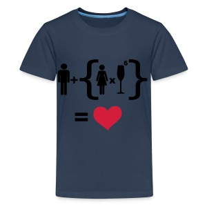 Men Women alcohol - Find the love Tops - Teenager Premium T-Shirt