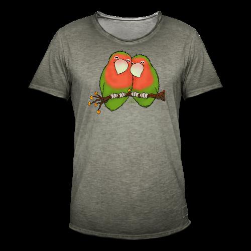 KinderShirt Tommy und Peppi - Lovebirds - Männer Vintage T-Shirt
