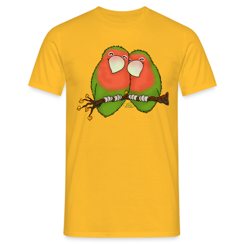 KinderShirt Tommy und Peppi - Lovebirds - Männer T-Shirt