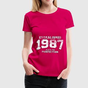 established 1987 - aged to perfection (fr) Débardeurs - T-shirt Premium Femme