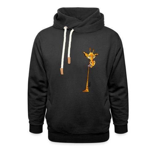 Tee shirt Girafe - Femme - Sweat à capuche cache-cou