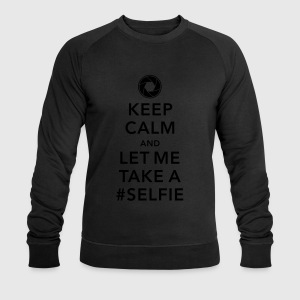 funny Keep calm take a selfie #selfie meme geek T-Shirts - Men's Sweatshirt by Stanley & Stella
