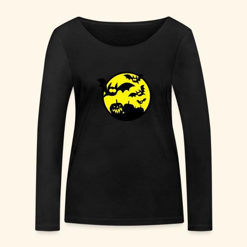 Bats & Pumpkins, Kerlie - Frauen Bio-Langarmshirt von Stanley & Stella