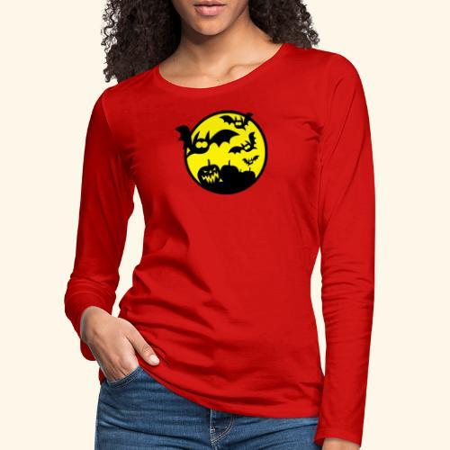 Bats & Pumpkins, Kerlie - Frauen Premium Langarmshirt