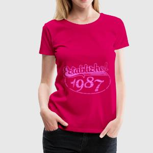 established 1987 dd (fr) Débardeurs - T-shirt Premium Femme